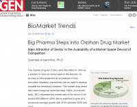 Big Pharma Steps Into Orphan Drug Market