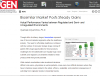Biosimilar Market Posts Steady Gains