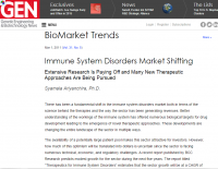 Immune System Disorders Market Shifting