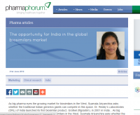 The Opportunity for India in the Global Biosimilars Market